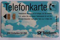 Télécarte à puce Allemagne Wolkenhimmel 1991