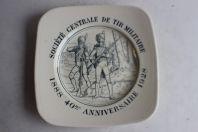 Assiette Prix Tir Militaire 1888 - 1928 40e anniversaire Carouge Suisse