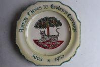 Assiette Anciens élèves des écoles de Carouge 1905-1955 Noverraz