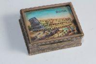 Boite à pilules argent émaux sur cuivre Rome Italie