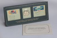 Médaille argent Commemoration of Apollo-Soyuz Space Mission 1975 timbres