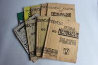 Lot 9 revues Nouveau Journal de Menuiserie 1933 1958