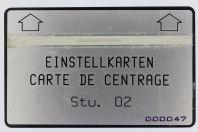 Télécarte de centrage Landis & Gyr Einstellkarten Stu. 02