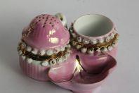 Service à condiments porcelaine