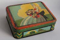 Boîte à biscuits tôle sérigraphiée Hirschfeld Frères Strasbourg