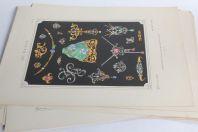 Dix planches dessins Bijoux Art Nouveau J. Rothschild Paris