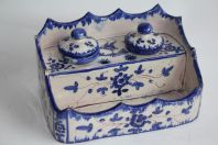 Encrier céramique de Moustiers XVIIIe siècle