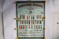 Affiche publicitaire lithographiée Cartoucherie française