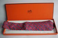 Cravate soie HERMES 7171 FA