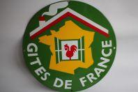Plaque émaillée Gîtes de France 35 cm