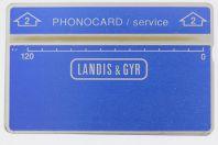 Télécarte de service Phonocard 2 Landis & Gyr 506K Israël