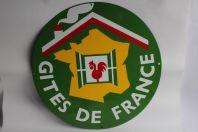 Plaque émaillée Gîtes de France 46 cm
