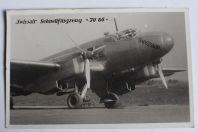 """Carte postale ancienne Avion Swissair Schnellflugzeug """"JU 86"""" Suisse"""