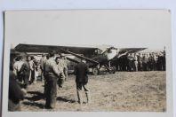 Carte postale ancienne Avion Chamberlin & Levine Dübendorf Suisse