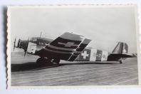 Carte postale ancienne Avion Junkers Ju 52 Dübendorf Suisse