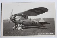 Carte postale ancienne Avion Dewoitine D.27 300 P.S. Wright Suisse
