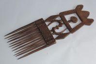 Ancien peigne Africain bois sculpté Objet ethnique