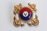 Insigne de col émaillé Marine