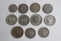 Lot de 11 monnaies argent