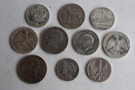 Lot de 10 monnaies argent