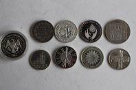 Lot de 9 monnaies argent