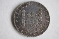 Monnaie 8 Reales Carlos III 1767 Mexico Mexique