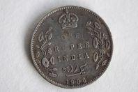 Monnaie 1 Rupee Edward VII 1906 Inde