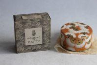Poudre de COTY parfumée à l'émeraude Boite à poudre Lalique
