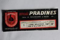 Lame sécateur pour n°10 et plume n° 8 Sandvik Pradines