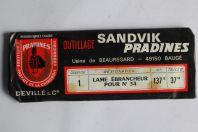 Lame ébrancheur pour n°34 Sandvik Pradines