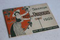Brochure Souvenir Fête des vignerons Pales Vevey 1905 Suisse