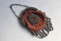 Bourse porte louis d'or XIXe siècle perlé d'acier