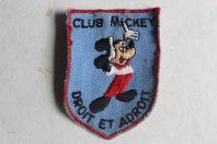 Écusson Club Mickey Droit et Adroit