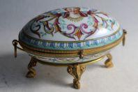 Boite porcelaine peinte Napoléon III