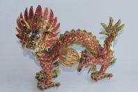 Dragon en émaux cloisonnés Chine