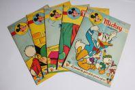 Mickey Magazine Juillet 1954 n°195 à n°199