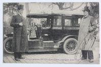 CPA Cirque Les Géants HUGO dans leurs voyages avec leur automobile