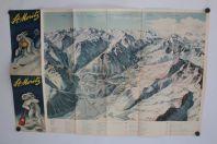 Brochure touristique Plan St. Moritz Station Ski Suisse Diggelmann