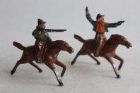 Anciens Soldats de plomb Cowboys à cheval