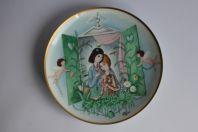 PEYNET Assiette Le jour des amoureux porcelaine Franklin 1980