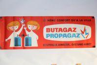 Affiche publicitaire lithographiée Butagaz Propagaz