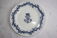 Assiette porcelaine Couronne comtale Brown Westhead & Moore Lobelio