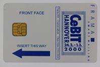 Carte à puce exposition CeBIT Hannover 2000