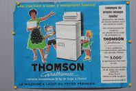 Affiche publicitaire THOMSON Machine à laver Gyrathomic Francis Gilletta