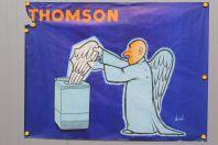 Affiche publicitaire THOMSON Machine à laver Chaval