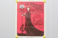 Affiche La rosière mélodrame Théâtre Ambigu comique Paris 1967