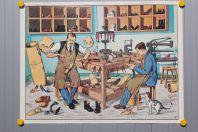 Affiche scolaire Le cordonnier et Le coiffeur La Maison des instituteurs