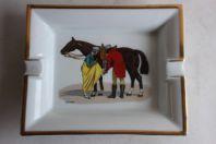 HERMES cendrier porcelaine LEDOUX Équitation cheval