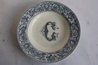 Assiette creuse porcelaine anglaise Florentine Minton CG