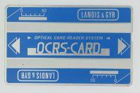 Télécarte Carte expérimentale holographique Landis & Gyr OCRS-CARD